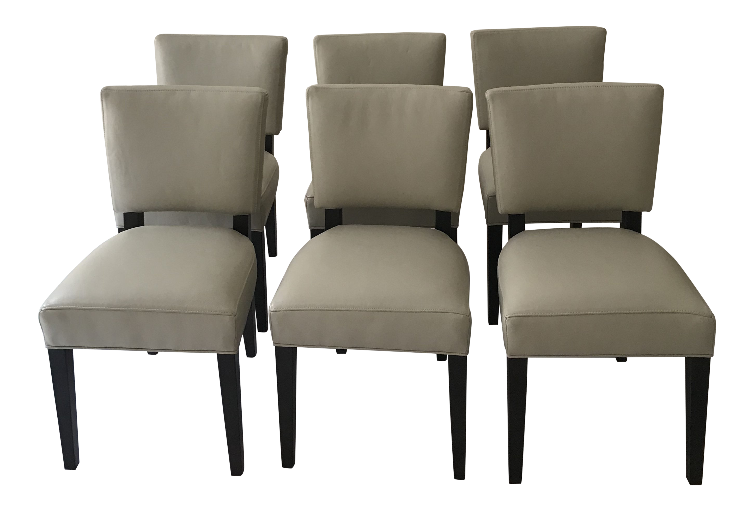 Room U0026 Board Leather Dining Chairs   Set Of 6