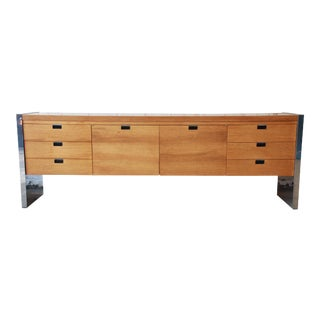 Roger Sprunger for Dunbar Mahogany and Chrome Executive Credenza