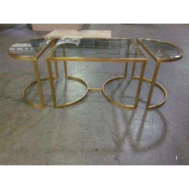 Glass Italian Gilt Iron Cocktail Table in the Style of Maison Bagues For Sale - Image 7 of 7
