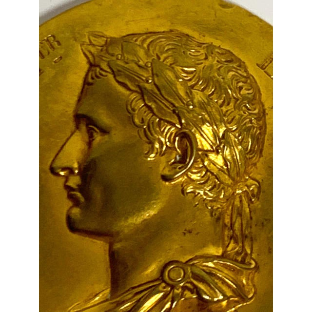 19th Century French Empire Napoleon 1er Empire Et Roi Portrait Plaque For Sale In West Palm - Image 6 of 7