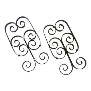Wrought Iron Umanoff-Style Trivets - a Pair For Sale