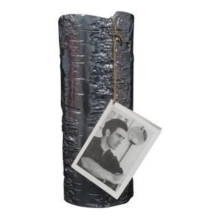 Michael Aram Bark Polished Aluminum, Small Vase For Sale