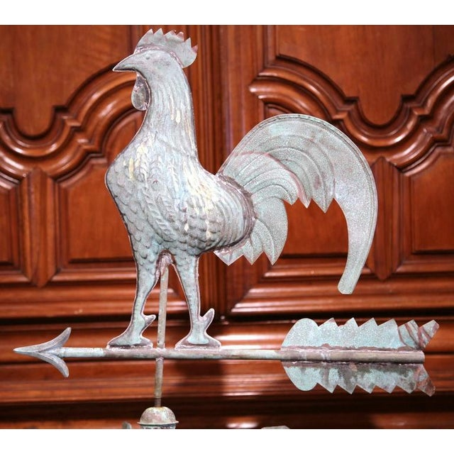 This beautifully crafted tole weather vane was created on the Normandy coast of France, circa 1860. The traditional...