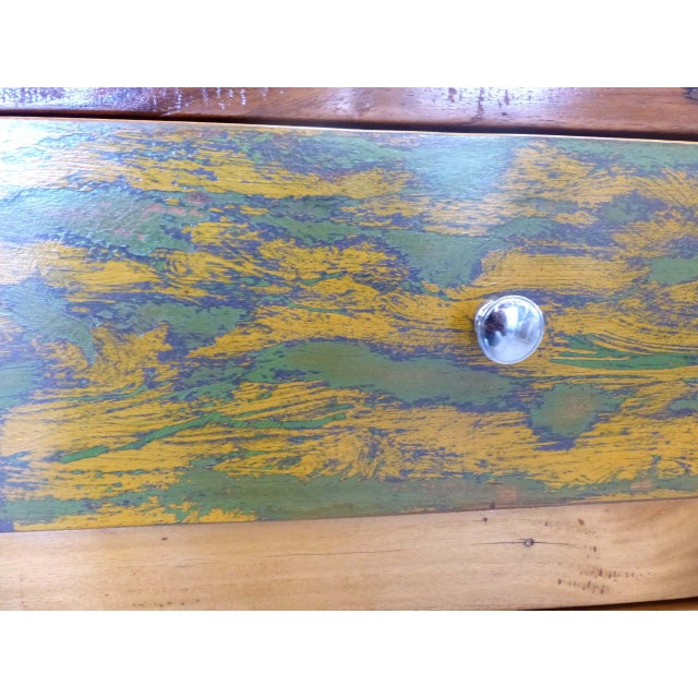 1950's Style Distressed Finish Wood Nightstands -A Pair - Image 6 of 10