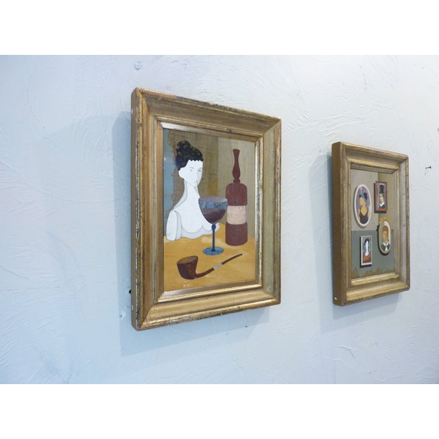 Green Pietra Dura Portraits - a Pair For Sale - Image 8 of 9