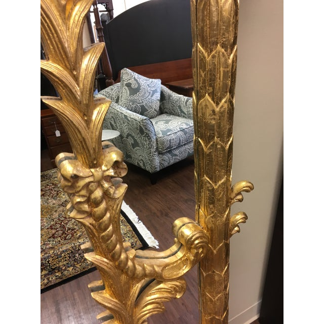1990s Vintage Italian Gilded Pier Mirror For Sale - Image 9 of 13