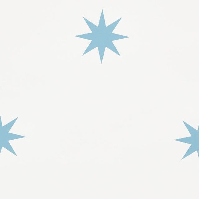 Contemporary Schumacher Stargaze Wallpaper in Blue For Sale - Image 3 of 5