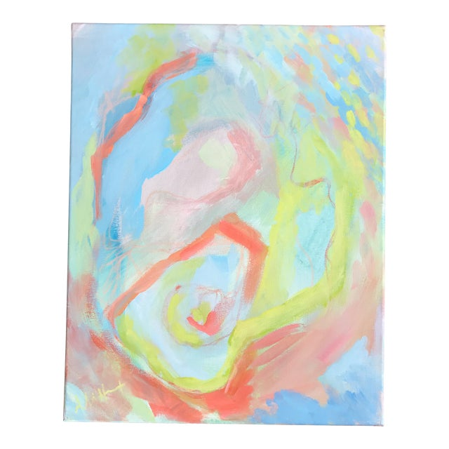"""Abstract Acrylic Painting """"Rainbow Row"""" by Alice Miles - Image 1 of 5"""
