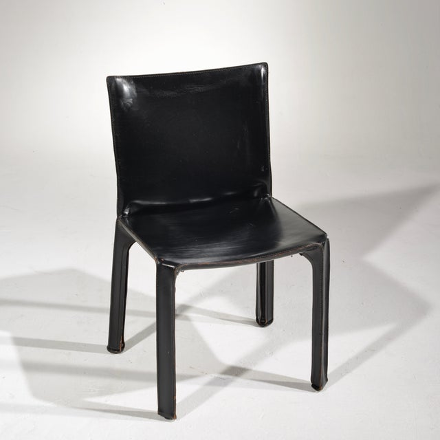 Incredible Black Leather Cab Chair By Mario Bellini For Cassina Ocoug Best Dining Table And Chair Ideas Images Ocougorg