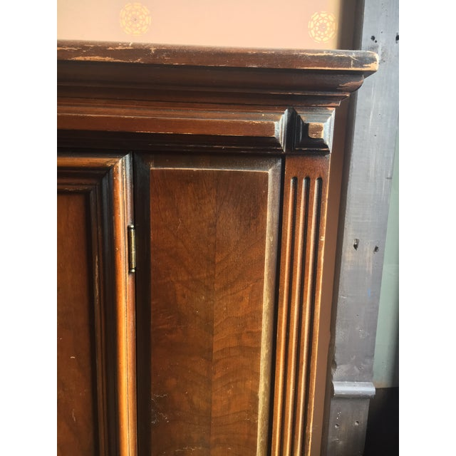 1920s 1920s Jacobean Revival Burl Walnut China Closet For Sale - Image 5 of 8
