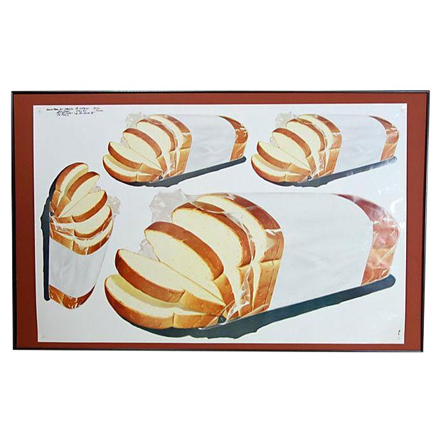 Vintage 1960 Bread Advertisement Cut Sheet Poster - Image 1 of 5