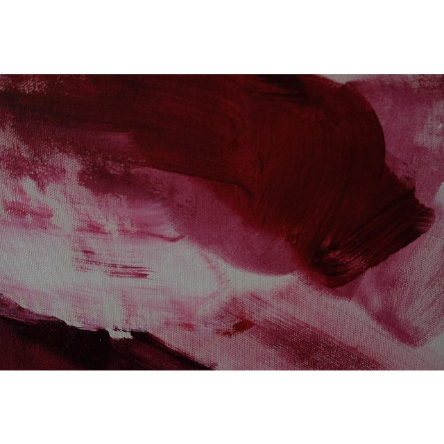 """""""Red"""" Acrylic & Enamel Painting on Canvas For Sale In New York - Image 6 of 7"""