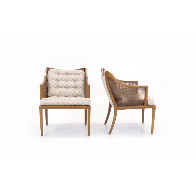 Mid-Century Modern Pair of T. H. Robsjohn Gibbings for Widdicomb Arm Chairs For Sale - Image 3 of 10