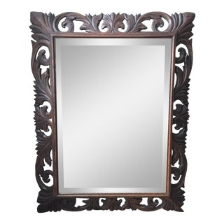 19th Century Carved Wood Mirror