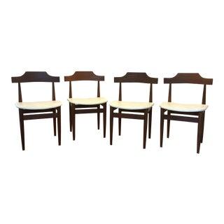 Vintage 1960s Hans Olsen for Frem Rojle Danish Modern Dining Chairs - Set of 4 For Sale