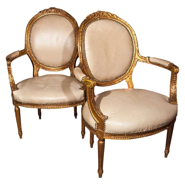 Maison Jansen French Louis XIV Armchairs - A Pair For Sale