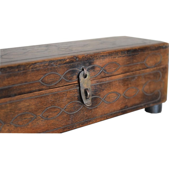 Vintage Wooden Pencil Box For Sale - Image 5 of 6