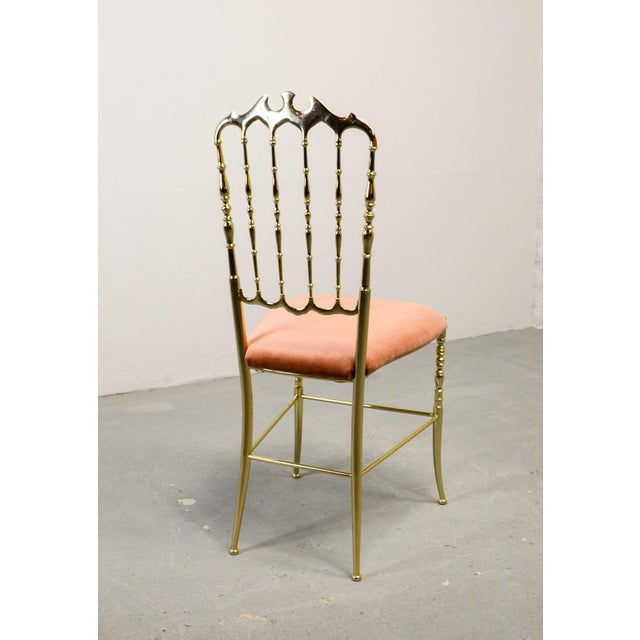 Chiavari Mid-Century Italian Design Side Chair by Giuseppe Gaetano Descalzi for Chiavari, Italy, 1950s For Sale - Image 4 of 11