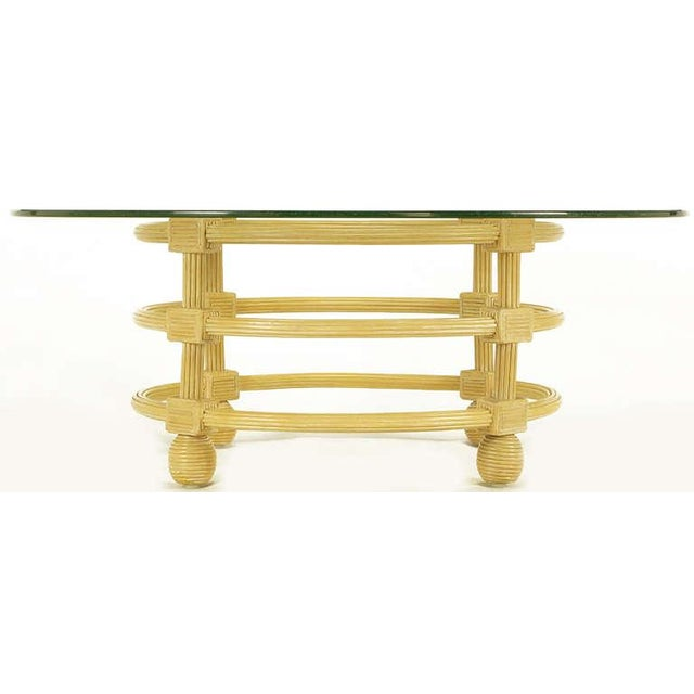 Jay Spectre Round Reeded Wood Coffee Table - Image 3 of 7