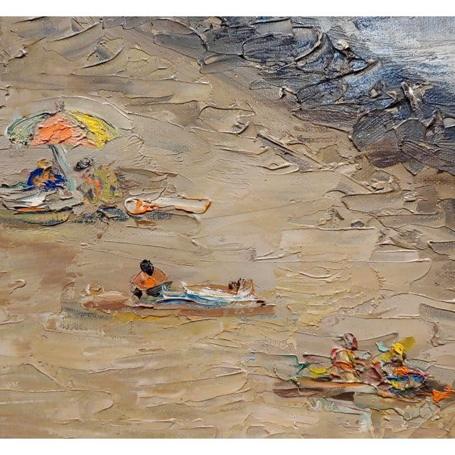 R. S. Karlin - Santa Monica Beach - 1960s Mid Century Oil Painting Mid Century For Sale In Los Angeles - Image 6 of 11