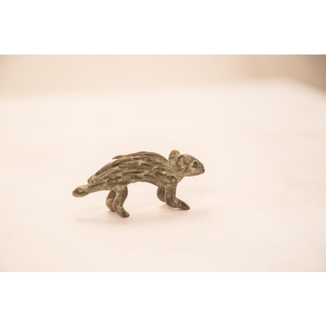Vintage Bronze Porcupine Figurine / Ashanti Gold Weight For Sale - Image 5 of 5