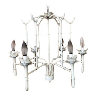 Vintage Palm Beach Regency Pagoda Chandelier For Sale