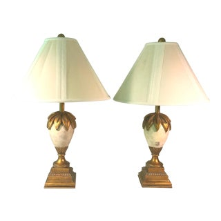 Hollywood Regency Chinoiserie Palm Lamps - a Pair For Sale