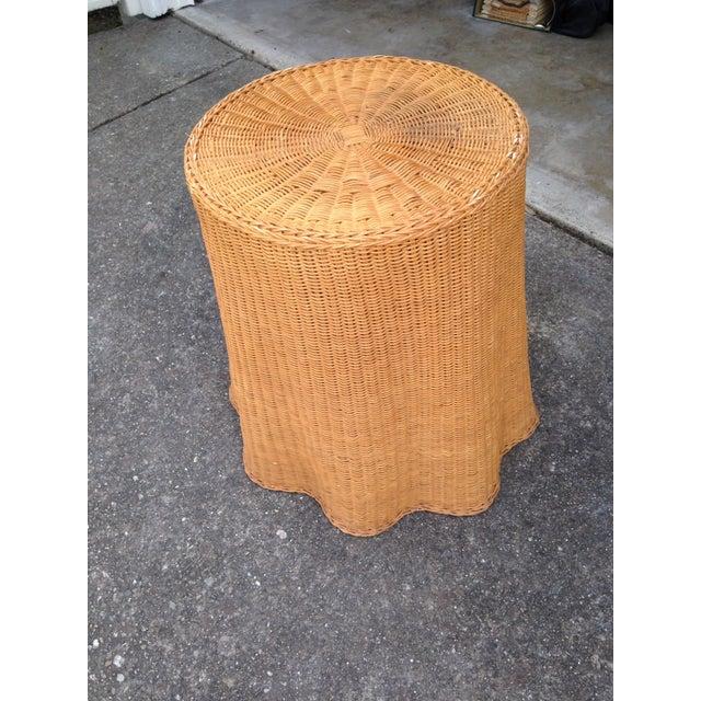 Soane Ripple Circular Rattan Table - Image 2 of 5