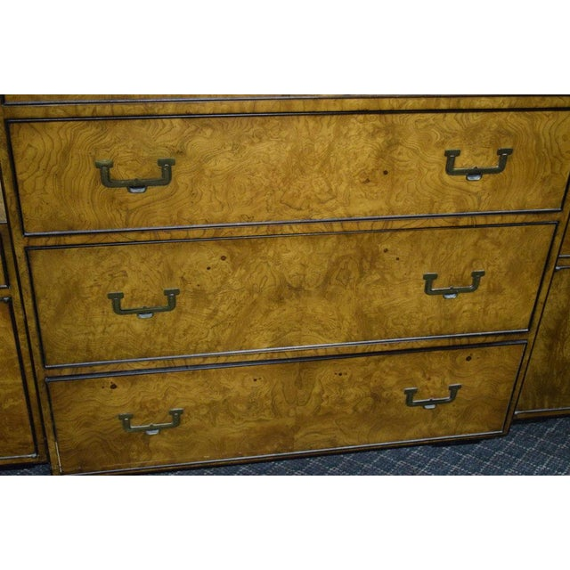 Campaign 1950s Campaign John Widdicomb Highboy Dresser For Sale - Image 3 of 5