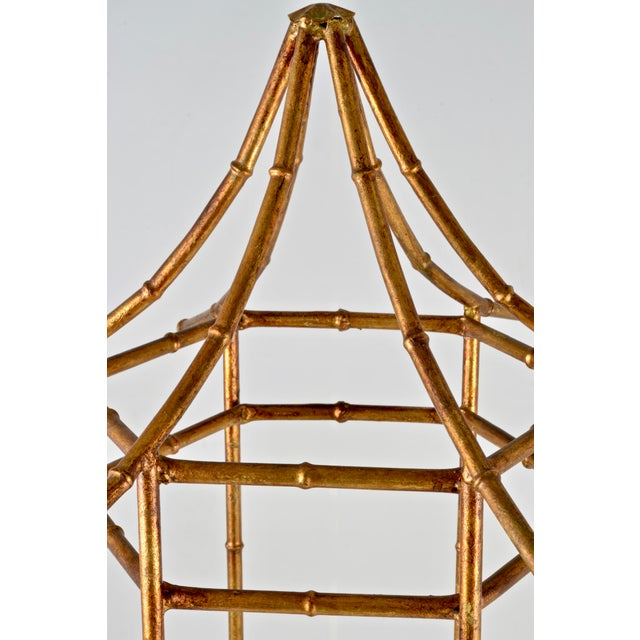 Pagoda Form Etagere, Parcel Gilded For Sale In New York - Image 6 of 10
