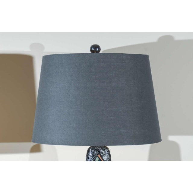 Ceramic Stunning Pair of Large Scale Abstract Ceramic Lamps For Sale - Image 7 of 9