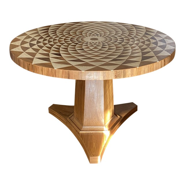 Teak Center Table With Bone Inlay For Sale