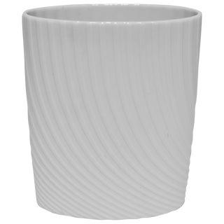 White Matte Porcelain Ceramic Pottery Vase by Rosenthal For Sale