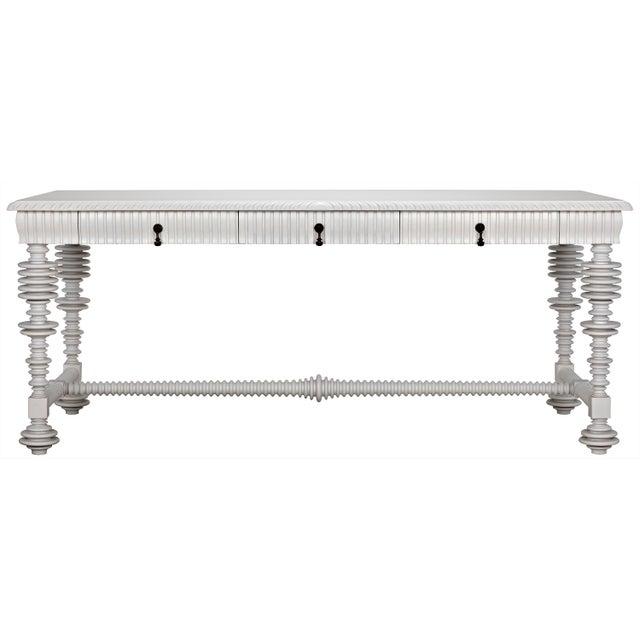 Portuguese Desk, Solid White For Sale - Image 13 of 13