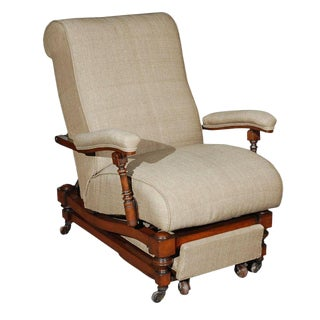 Late 19th Century English Reclining Chair For Sale
