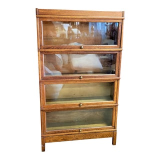 Vintage Globe Wernicke Stacking Barrister Bookcase For Sale
