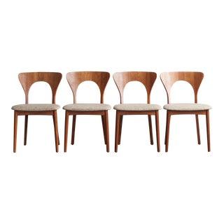 "Niels Koefoed ""Peter"" Teak Dining Chairs - Set of 4 For Sale"