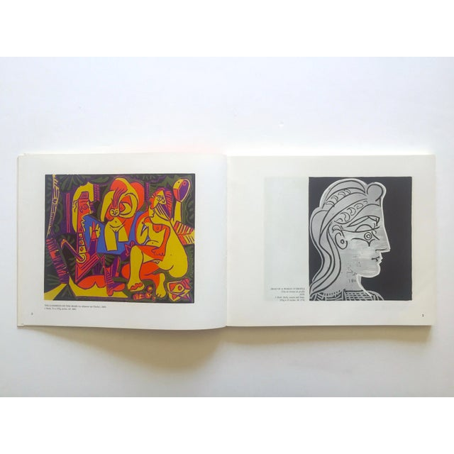 "Mid-Century Modern "" Picasso Linocuts 1958 - 1963 "" Rare Vintage 1968 1st Edition Lithograph Print Collector's Exhibition Art Book For Sale - Image 3 of 13"