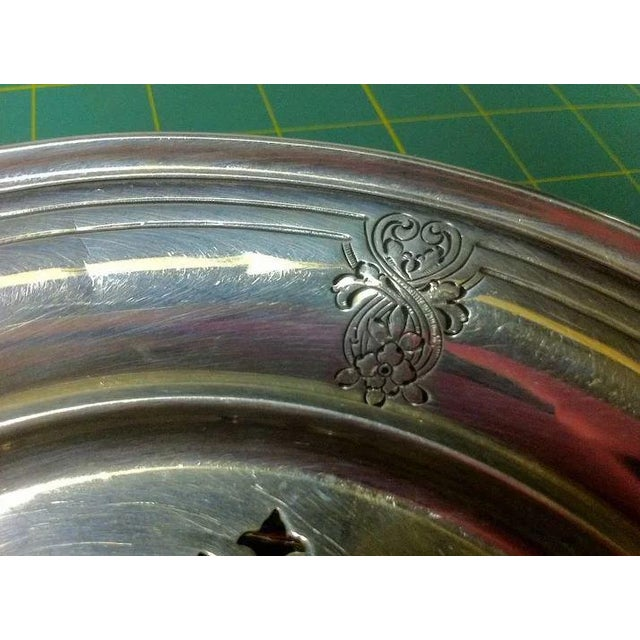 Sterling Silver Butter/Cheese Dish With Removable Liner For Sale - Image 9 of 10