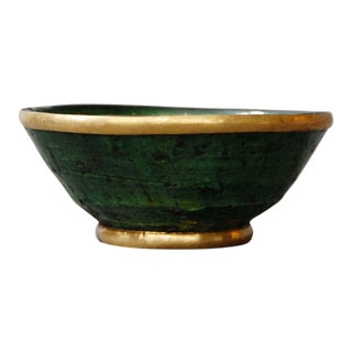 Gold Rim Tamegroute Pottery Bowl