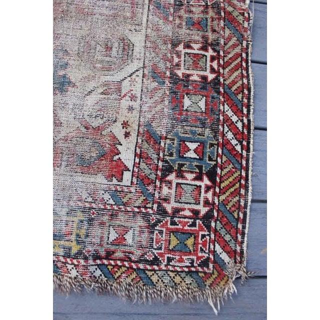 "Antique Persian Kazak Rug - 3'5""x4'4"" - Image 5 of 8"