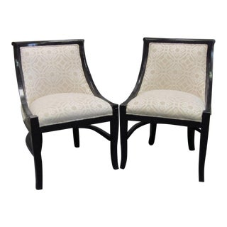 1940s Vintage Regency Directoire Style Chairs - A Pair For Sale
