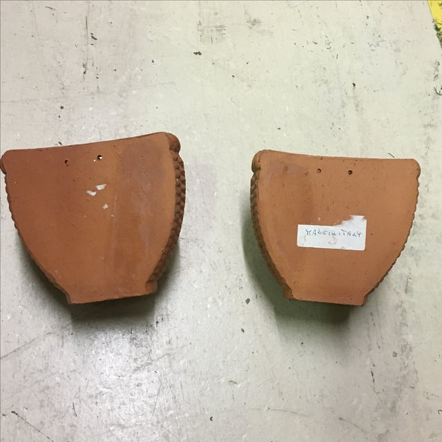 Italian Terra Cotta Wall Pocket Planters - A Pair For Sale In Richmond - Image 6 of 6