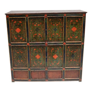 Tibetan Wooden Chest For Sale