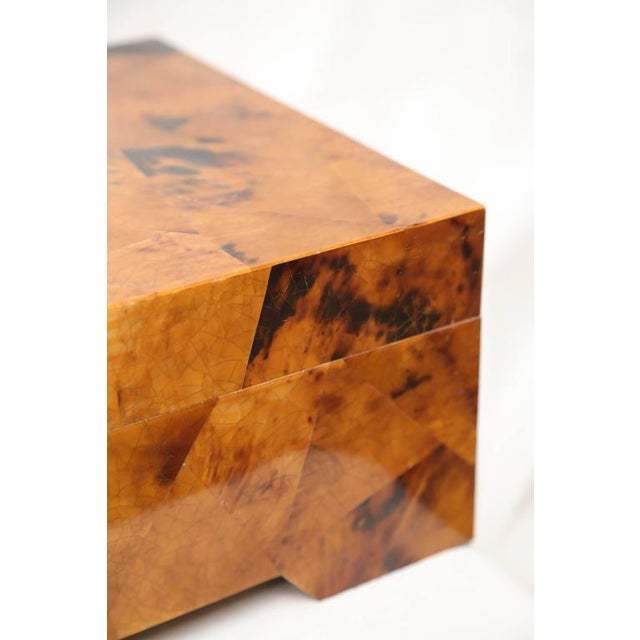 1980s Eugenio Tavola by Oggetti Horn and Shell Box Over Wood For Sale - Image 5 of 9