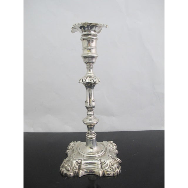 Antique George II Sterling Silver Candlestick John Cafe London 1752 - a Pair For Sale - Image 12 of 13