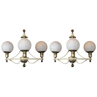 Pair of Mod 1960s French Sconces For Sale