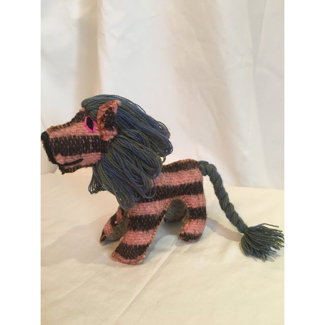 Mexican Folk Art Lion Toy For Sale - Image 4 of 4