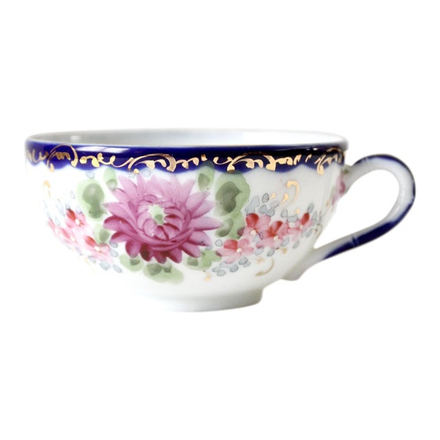 Antique Tea Cup With Gilt For Sale