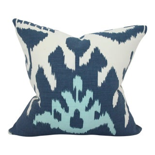 Kazak Blue Feather Down Insert Pillow For Sale
